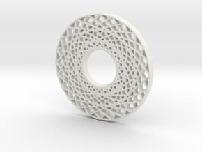 Modern Abstract Geometric Pendant in White Natural Versatile Plastic