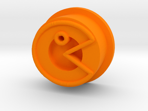 Kmods Squonker Pacman button in Orange Processed Versatile Plastic