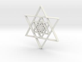 Infinite Jewish Symbol Pendant in White Strong & Flexible