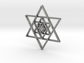 Infinite Jewish Symbol Pendant Charm in Natural Silver