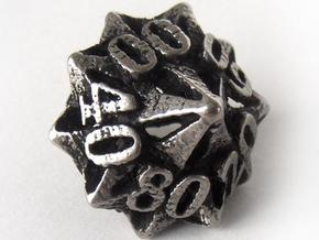 Pinwheel Decader Die10 in Polished Bronzed Silver Steel