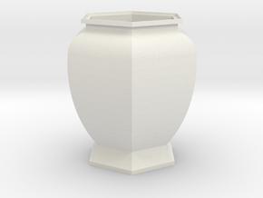 URN 0.8mm in White Natural Versatile Plastic