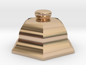 URN 0.8mm Cap in 14k Rose Gold Plated Brass