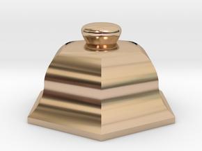 URN 0.8mm Cap in 14k Rose Gold Plated
