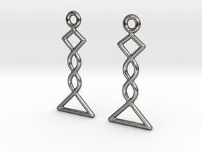 Celtic Weave Earrings - WE031 in Polished Silver