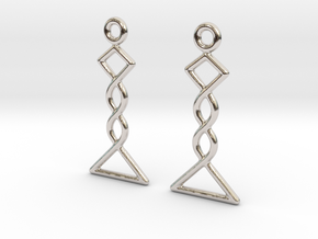 Celtic Weave Earrings - WE031 in Rhodium Plated Brass