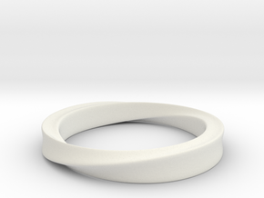 Möbius Ring in White Strong & Flexible: 4 / 46.5
