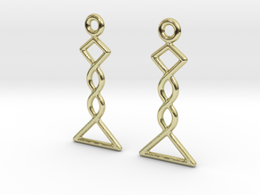Celtic Weave Earrings - WE031 in 18k Gold