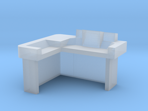 Commander's Desk S2 (Space: 1999) 1/30 in Smooth Fine Detail Plastic