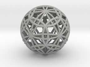 IcosaDodecasphere with Icosahedron & Dodecahedron in Aluminum