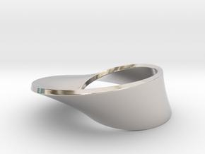 Moebius pendant in Rhodium Plated Brass