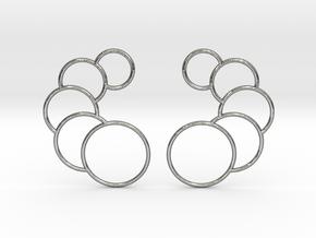 Eclipse Earrings in Polished Silver