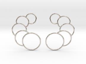 Eclipse Earrings in Rhodium Plated Brass