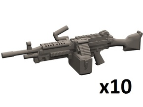 1/24 M249 machine gun in Smooth Fine Detail Plastic