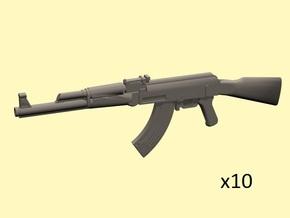 1/24 AK-47 assault rifles in Smoothest Fine Detail Plastic