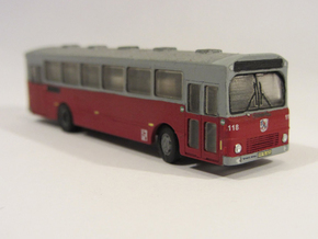 Volvo B10m Bus 2-0-2 Odense N scale in Smooth Fine Detail Plastic