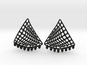 Baumann Earrings in Black Natural Versatile Plastic