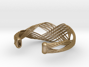 Fellah Truss in Polished Gold Steel: Large