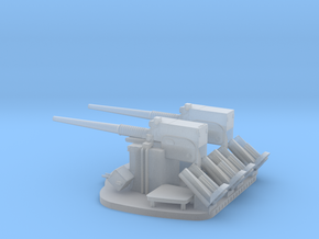 1/125 Scale 3 In 50 Cal Twin Automatic in Smooth Fine Detail Plastic