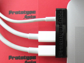 Macbook Pro Dock Cable (2x Thunderbolt & MagSafe) in Black Acrylic
