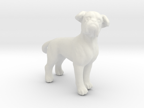 1/24 Pug Adult Dog  in White Natural Versatile Plastic