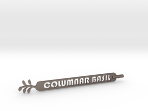 Columnar Basil Plant Stake  in Polished Bronzed Silver Steel
