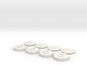 1:24 or 1:25 Scale Model Full Moon Wheel in White Natural Versatile Plastic