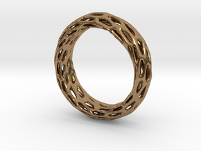 Trous Ring Sz 13 in Natural Brass