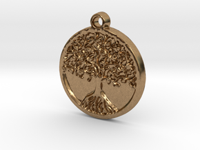 Tree of Life (Pendant) in Natural Brass