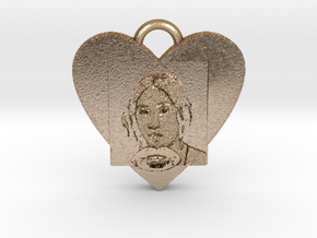 "Christen Købke""My sister in love""Necklace-""SMK"" in Polished Gold Steel"