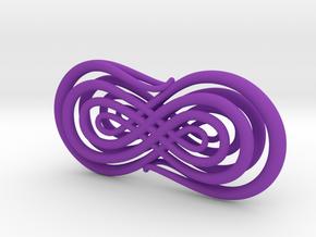 Trompe l'Oeil Calligraphy 2 in Purple Processed Versatile Plastic