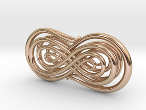 Trompe l'Oeil Calligraphy 2 in 14k Rose Gold