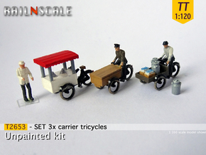 SET 3x Carrier tricycles (TT 1:120) in Frosted Ultra Detail