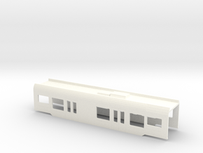 Flirt Mittelwagen Scale Tt A002 Mit Wc in White Processed Versatile Plastic