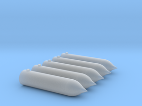 1/72 Torpedoes for USN Destroyers in Smooth Fine Detail Plastic
