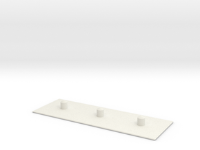 Plank in White Natural Versatile Plastic