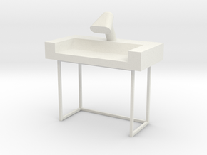 Main Mission Desk Type 1 S1  (Space: 1999), 1/30 in White Natural Versatile Plastic
