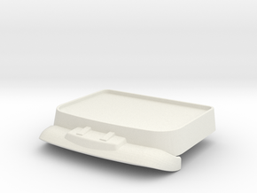 Mill-roof-1.25 in White Natural Versatile Plastic
