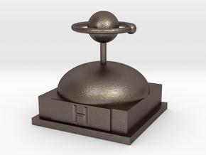Hydrogen Atomamodel in Polished Bronzed Silver Steel