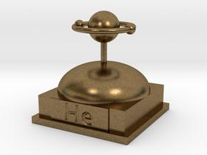 Helium Atomamodel in Natural Bronze