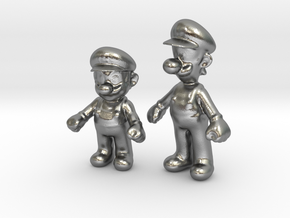 1/24 Mario Brothers in Natural Silver