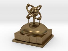 Lithium Atomamodel in Natural Bronze