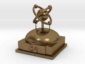 Beryllium Atomamodel in Natural Bronze