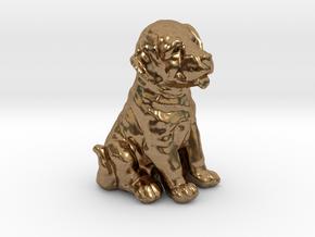 URNS Labrador Puppy 0.8mm in Natural Brass