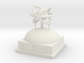 Boron Atomamodel in White Strong & Flexible