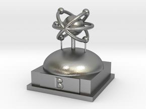 Boron Atomamodel in Natural Silver