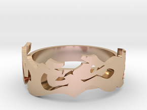 Mesh Deluxe in 14k Rose Gold Plated Brass