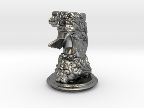 Chinese Dragonfish Knight in Polished Silver
