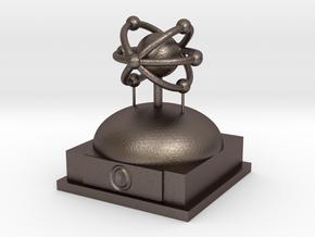 Oxygen Atomamodel in Polished Bronzed Silver Steel