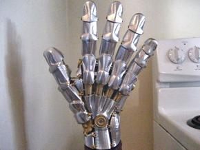 Fire Gauntlet (unpainted) in White Natural Versatile Plastic